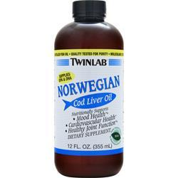TWINLAB Norwegian Cod Liver Oil Liquid Mint 12 fl.oz