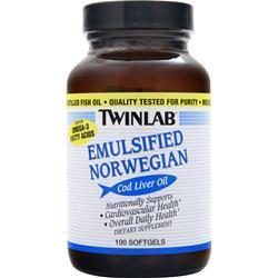 TWINLAB Emulsified Norwegian Cod Liver Oil 100 sgels