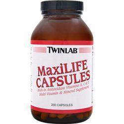 TWINLAB Maxilife Capsules 200 caps