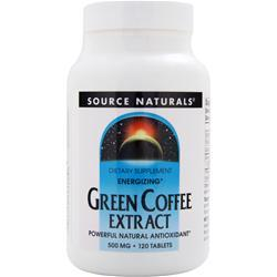 Source Naturals Green Coffee Extract (500mg) - Energizing 120 tabs