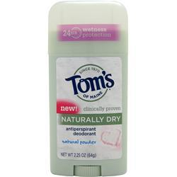 TOM'S OF MAINE Deodorant Stick - Naturally Dry Natural Powder 2.25 oz