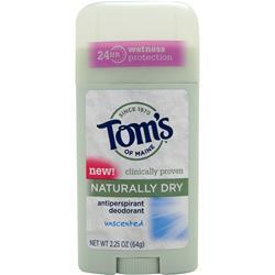 TOM'S OF MAINE Deodorant Stick - Naturally Dry Unscented 2.25 oz