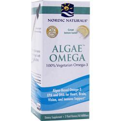 NORDIC NATURALS Algae Omega - 100% Vegetarian Omega-3 Liquid Lemon 2 fl.oz