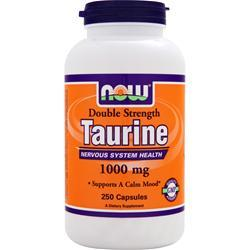 NOW Double Strength Taurine (1000mg) 250 caps