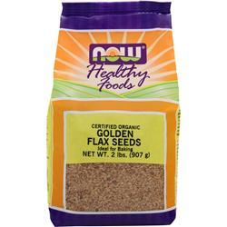NOW Golden Flax Seeds - Organic 2 lbs