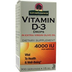 NATURE'S ANSWER Vitamin D-3 Drops .5 oz