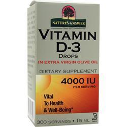 Nature's Answer Vitamin D-3 Drops .5 oz