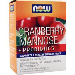 NOW Cranberry Mannose + Probiotics 24 pckts