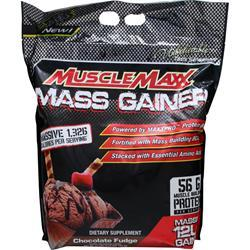 MUSCLE MAXX Mass Gainer Chocolate Fudge 12 lbs