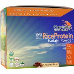 GROWING NATURALS Rice Protein Isolate - Organic Chocolate Power 12 pckts