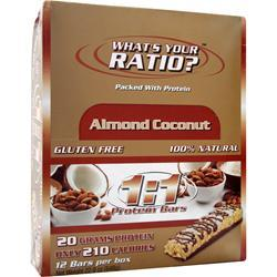 Metragenix 1:1 Protein Bar Almond Coconut 12 bars