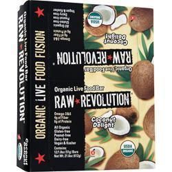 Raw Indulgence Raw Revolution - Organic Live Food Bar Coconut and Agave Nectar 12 bars