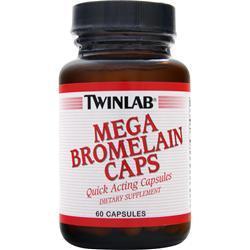 TWINLAB Mega Bromelain (300mg) 60 caps