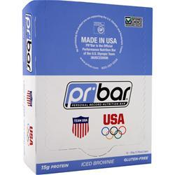 PR NUTRITION PR Bar - Personal Record Nutrition Bar Iced Brownie 12 bars