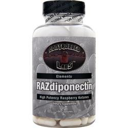 CONTROLLED LABS RAZdiponectin - High Potency Raspberry Ketones 100 caps
