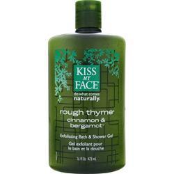 Kiss My Face Rough Thyme - Exfoliating Bath and Shower Gel 16 fl.oz