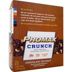 Promax Crunch Bar Chocolate Coconut 12 bars
