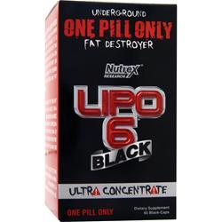 NUTREX RESEARCH Lipo-6 Black Ultra Concentrate 60 caps