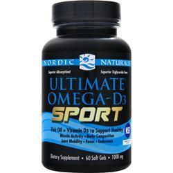 Nordic Naturals Ultimate Omega-D3 Sport 60 sgels
