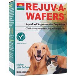 SUN CHLORELLA Rejuv-a-wafers - Superfood Supplement for Dogs & Cats 60 wafrs