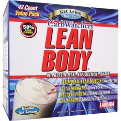Labrada Lean Body Carb-Watchers Shake Vanilla Ice Cream 42 pckt