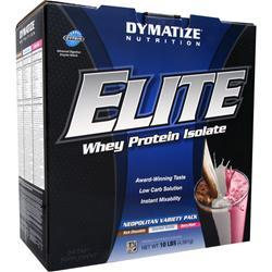 Dymatize Nutrition Elite Whey Protein Isolate Variety(Choc, Van, Berry) 10 lbs
