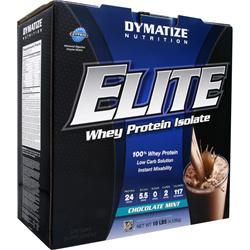 DYMATIZE NUTRITION Elite Whey Protein Isolate Chocolate Mint 10 lbs