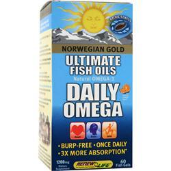 RENEW LIFE Norwegian Gold Ultimate Fish Oils Daily Omega Natural Orange Flavor 60 sgels