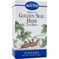 ALVITA Tea Bags - Caffeine Free Golden Seal Herb 30 pckts
