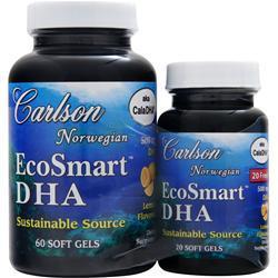 Carlson EcoSmart DHA Lemon 60+20 Shrink Wrap 80 sgels