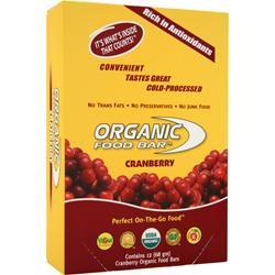 ORGANIC FOOD BAR Meal Bar Cranberry 12 bars