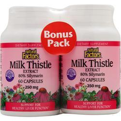 NATURAL FACTORS Milk Thistle Extract (250mg) Bonus Pack 120 caps