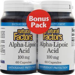 NATURAL FACTORS Alpha-Lipoic-Acid (100mg) Bonus Pack 120 caps