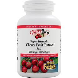 NATURAL FACTORS Cherry Rich - Cherry Fruit Extract 36:1 90 sgels