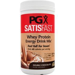 NATURAL FACTORS PGX Satisfast - Whey Protein Energy Drink Mix Double Chocolate 8.9 oz