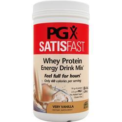 NATURAL FACTORS PGX Satisfast - Whey Protein Energy Drink Mix Very Vanilla 8.4 oz