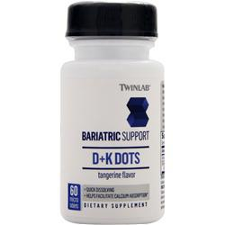 TwinLab Bariatric Support - D+K Dots Tangerine EXPIRES 7/17 60 tabs