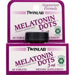 TwinLab Melatonin Dots (3mg) Wintergreen 60 tabs