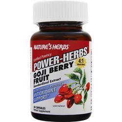 Nature's Herbs Power-Herbs Goji Berry Fruit 60 caps