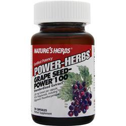 NATURE'S HERBS Power-Herbs Grape Seed Power 100 30 caps
