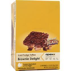 Apex Brownie Delight Iced Fudge Toffee 12 unit