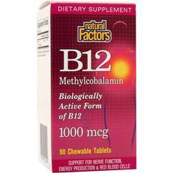 NATURAL FACTORS B12 Methylcobalamin (1000mcg) 90 chews
