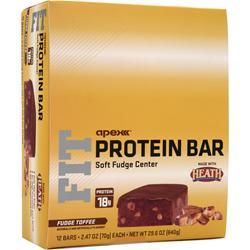 Apex FIT Protein Bar Fudge Toffee 12 bars