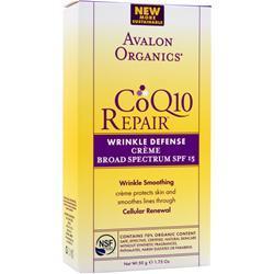 AVALON ORGANICS CoQ10 Enzyme Skin Care Wrinkle Defense Creme 1.75 fl.oz
