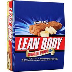 LABRADA Lean Body Whole Food Bar Banana Nut 12 bars