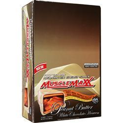 Muscle Maxx Protein Bar - High Protein Energy Snack PB White Chocolate Heaven 12 bars