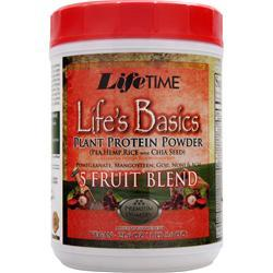 Lifetime Life's Basics Plant Protein Powder with 5 Fruit Blend 1.29 lbs