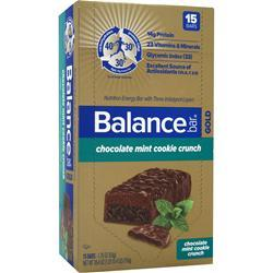 BALANCE BAR Balance Bar Gold Crunch Chocolate Mint Cookie 15 bars