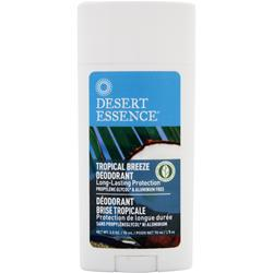 DESERT ESSENCE Deodorant - Long Lasting Protection Tropical Breeze 2.5 oz