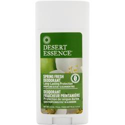 DESERT ESSENCE Deodorant - Long Lasting Protection Spring Fresh 2.5 oz